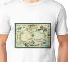 Vintage Map of The Black Sea (1559) Unisex T-Shirt