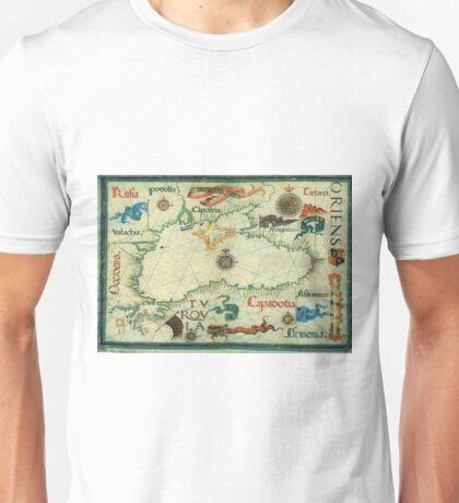 Vintage Map of The Black Sea (1559) Unisex T-Shirt
