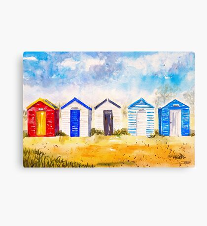 Beach Huts at Southwold Canvas Print