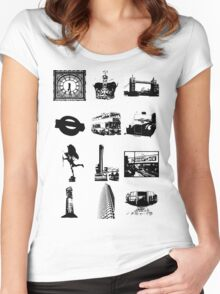 Britain Women's Fitted Scoop T-Shirt