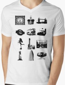 Britain 578 Mens V-Neck T-Shirt