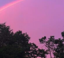 Pink Psychedelic Rainbow Skies Sticker