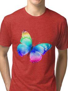butterfly rainbow Tri-blend T-Shirt