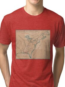 Vintage Map of British Forces in America (1766) Tri-blend T-Shirt