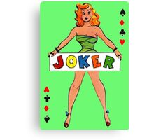 Joker Girl Canvas Print
