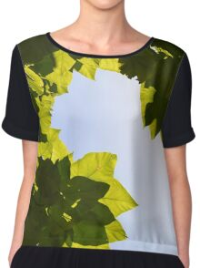 Leaves to the Sky Chiffon Top