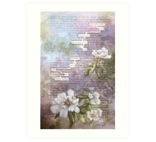 humument poem  Art Print