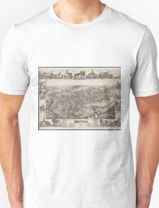 Vintage Pictorial Map of Dover Delaware (1885) Unisex T-Shirt