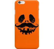 Jack-o-lantern with mustache iPhone Case/Skin