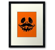 Jack-o-lantern with mustache Framed Print