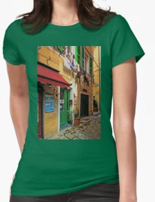 Clothes Drying and Pasta Cooking - Monterosso, Italy Womens Fitted T-Shirt