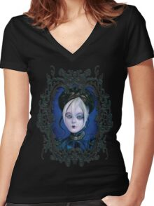 """""""Luxury"""" by DIENZO Women's Fitted V-Neck T-Shirt"""