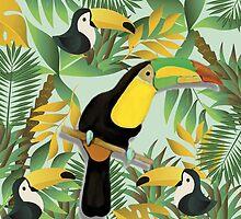 Cute Jungle Toucan Fine Art by Vicky Brago-Mitchell