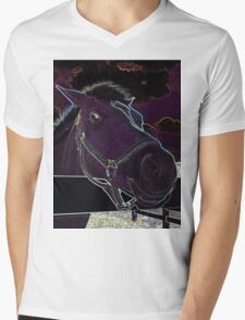Pony Face Mens V-Neck T-Shirt