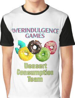 Overindulgence Games Dessert Consumption Team Graphic T-Shirt