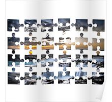 puzzle isolated transparent plan processing tracks Poster