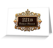221b Baker st. Greeting Card