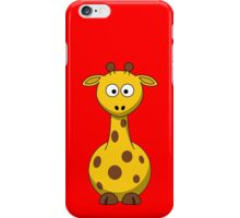 Cute Yellow Cartoon Giraffe iPhone Case/Skin