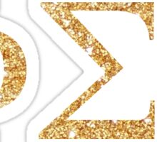 phi sig gold letters Sticker