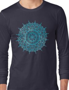 Blue Mandala Long Sleeve T-Shirt
