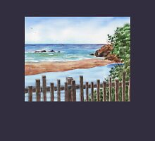 Ocean Shore Seascape In Watercolor Unisex T-Shirt