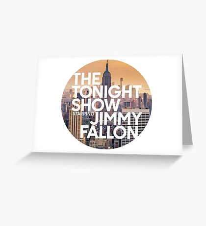 new york jimmy fallon Greeting Card