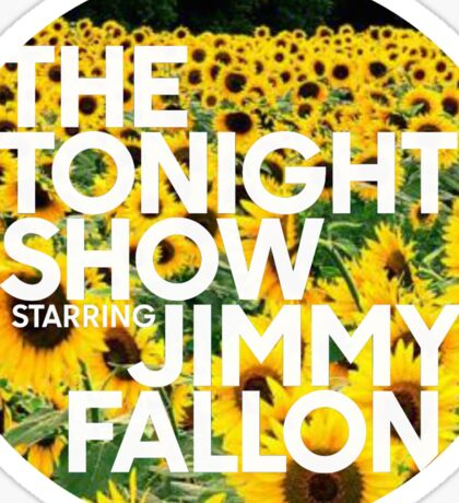 sunflower jimmy fallon Sticker