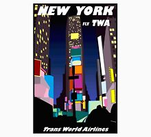 """TWA AIRLINES"" Vintage Fly to New York Print Unisex T-Shirt"