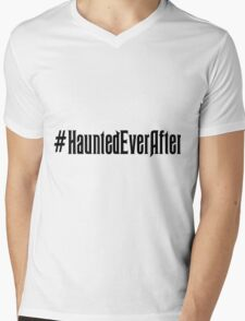 Haunted Ever After Hashtag Mens V-Neck T-Shirt