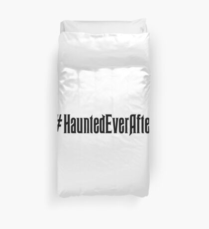 Haunted Ever After Hashtag Duvet Cover