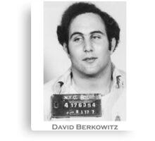 David Berkowitz Serial Killer Mugshot  Canvas Print