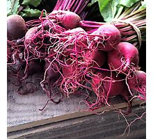 Farmers' Market- beets Photographic Print