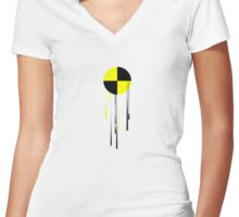Crash Test 5 (dripped) Women's Fitted V-Neck T-Shirt