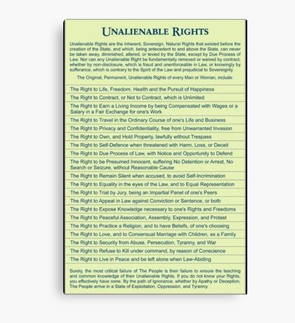 Freedom Rights Canvas Print