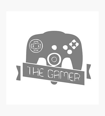 The gamer Photographic Print