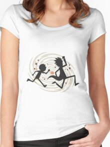 running rickmorty Women's Fitted Scoop T-Shirt