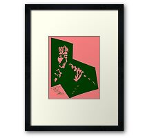 Our Mutual Friend - dark green/pink Framed Print