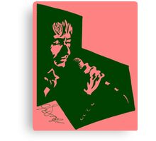 Our Mutual Friend - dark green/pink Canvas Print