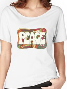 Vintage Psychedelic Peace and Love Women's Relaxed Fit T-Shirt
