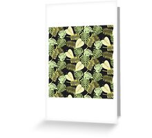 Leaf Modern Abstract Pattern Fine Art Greeting Card