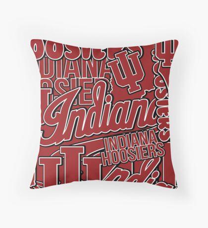 IU Indiana University Hoosiers collage Throw Pillow