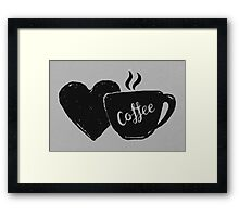 Love Coffee Framed Print