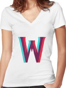"""""""W"""" Kdrama Logo  Women's Fitted V-Neck T-Shirt"""