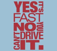Yes it's fast No you can't drive it (1) Kids Clothes