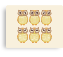 Sextuplet Owls Canvas Print