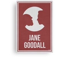 JANE GOODALL - Women in Science Wall Art Canvas Print