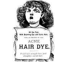 Acme Hair Dye Photographic Print