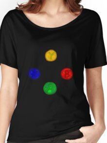 x box buttons Women's Relaxed Fit T-Shirt