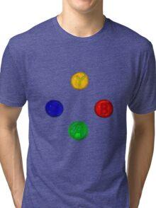 x box buttons Tri-blend T-Shirt
