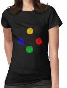 x box buttons Womens Fitted T-Shirt